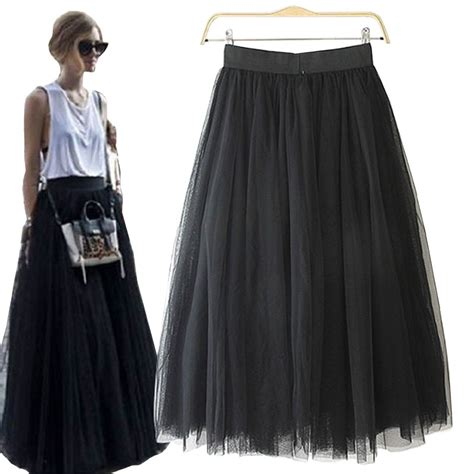 Long Flowy Black Skirt - Redskirtz