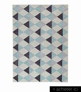 le tapis scandinave 100 idees partout dans la maison With tapis scandinave bleu et gris