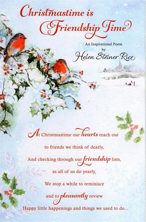 Helen Steiner Rice Christmas Friendship Greeting Card  Cards. Love Quotes For Him Quarrel. Girl Quotes On Smile. Quotes You Ve Been Hurt. Work Unhappiness Quotes. Motivational Quotes In French. Quotes About Strength During Loss. Quotes You Left Me. Marriage Quotes One Tree Hill
