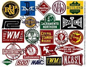 Items similar to STICKERS Railroad, Train Logo Clip Art ...