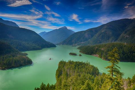 Blue And Green Wallpapers Washington State Forest Mountain Lake Blue Green Summer Clouds Beautiful Wallpapers