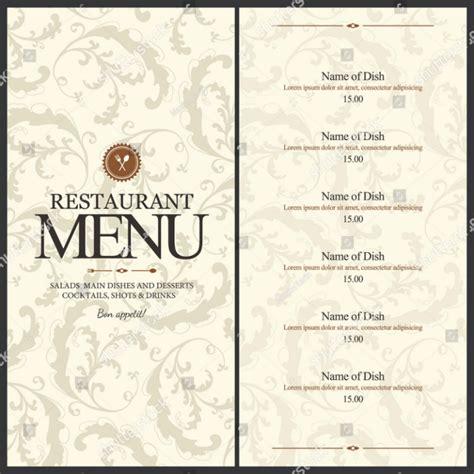 blank menu template 29 blank menu templates editable psd ai format free premium templates