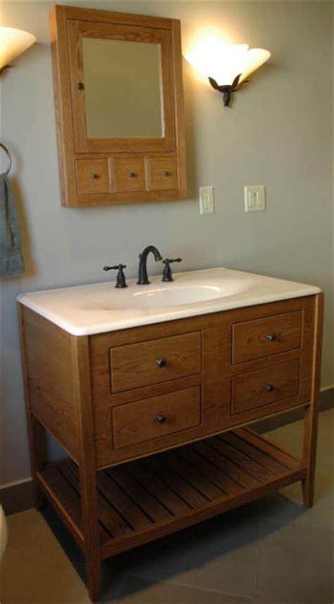 Open Style Bathroom Vanity with Double Height Apron
