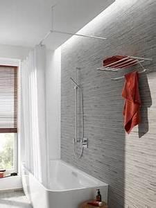 Duschvorhang Bei Dachschräge : duschvorhangstange als u form oder individuell f r eine duschabtrennung mit einem duschvorhang ~ Sanjose-hotels-ca.com Haus und Dekorationen