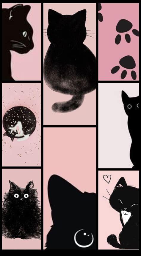 black pink cat iphone wallpaper pink cat black pink