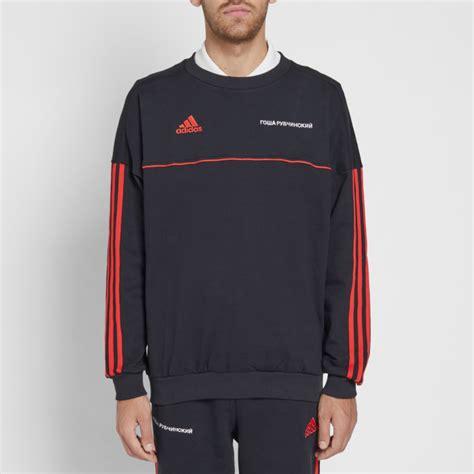 gosha rubchinskiy  adidas crew sweat black