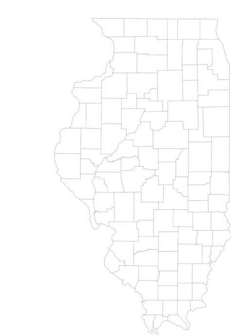 blank illinois county map
