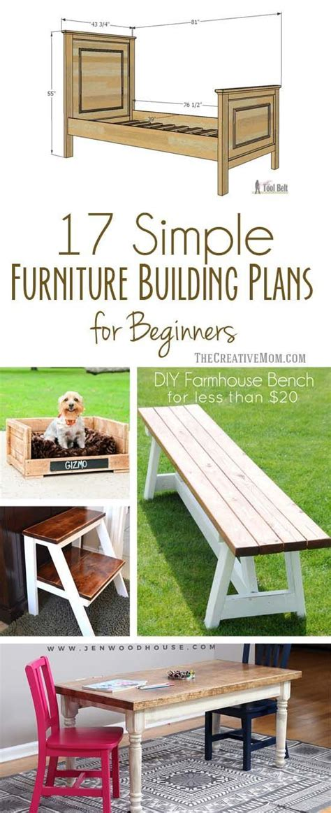 simple furniture building plans  beginners diy projects    pinterest