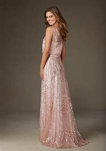 patterned sequin on mesh bridesmaid dress style 20478 With patterned wedding dress