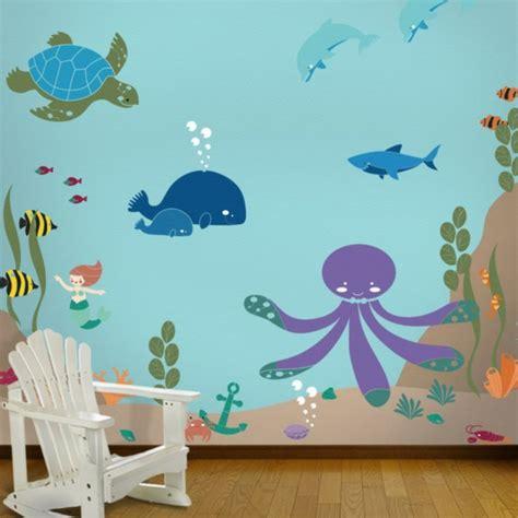 wandgestaltung kinderzimmer unterwasserwelt wandmalerei im kinderzimmer ein entz 252 ckendes ambiente