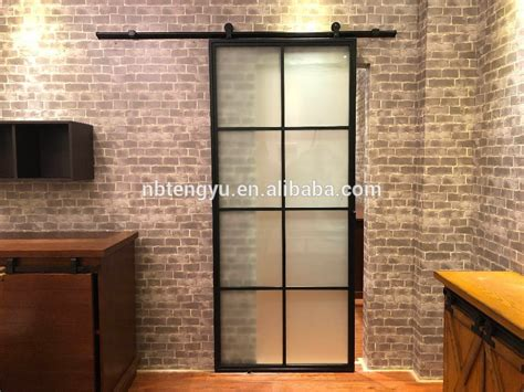 frosted glass interior door  black steel framesteel