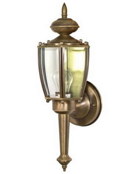 antique brass exterior wall light fixture nib ebay