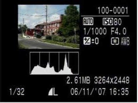 histogram tool  dslr camera
