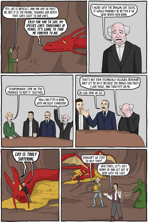 D D Bard Memes - dungeons and dragons and philosophers vi the angsty dragon of angst existential comics
