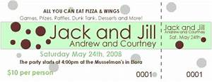 jack and jill ticket designs party invitations ideas With jack and jill tickets templates