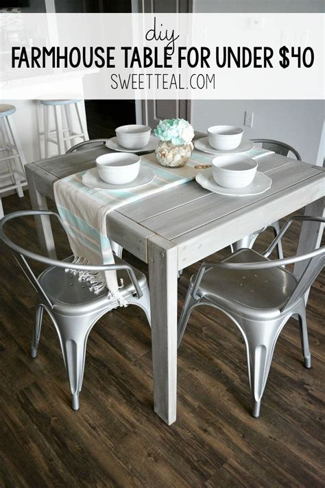 With below creative farmhouse coffee table décor ideas, you can design it easily by yourself. DIY Farmhouse Table For Under $40   Diy farmhouse table, Diy dining table, Farmhouse style ...