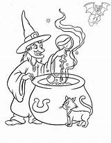 Coloring Witch Pages Printable Brew Potion Choice sketch template