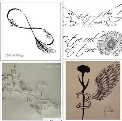 croquis pour tattoo de filles dailes plumes infini