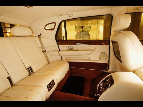 bentley arnage limousine interior rear