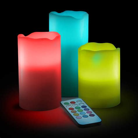 color change led candle set with remote