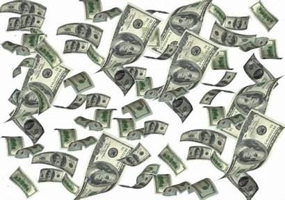 Money Transparent Falling Background Clipart Raining Psd