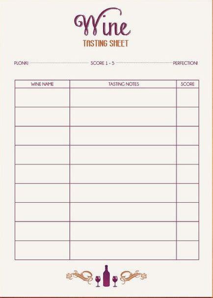 wine tasting score sheet raffle ticket software