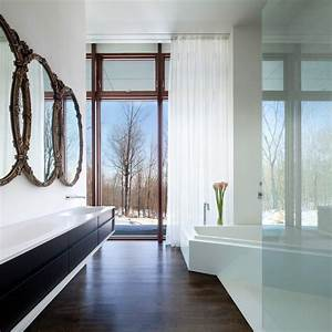 Unique bathroom mirrors in bathroom modern with floor to for Bathroom in the woods