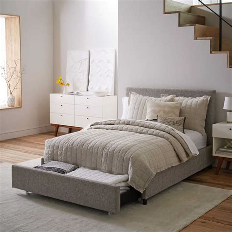 Upholstered Bed Frame With Storage by Modern Upholstered Beds House Bedroom Images About