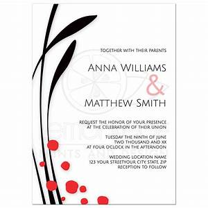 modern minimalist asian floral wedding invitation With minimalist floral wedding invitations
