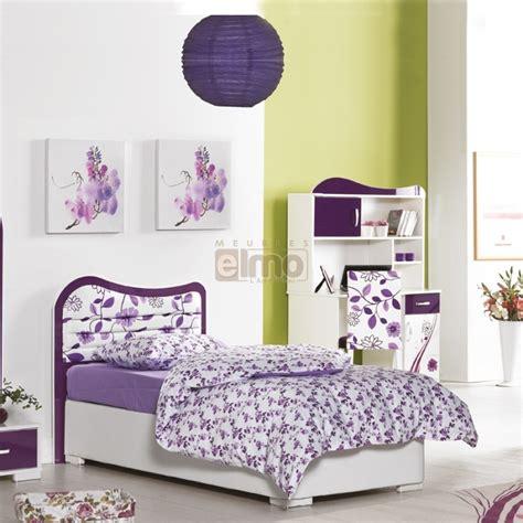 chambre enfants fille chambre enfant fille violette complète 4 pièces vision