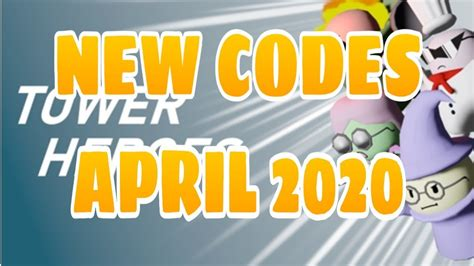While earning these coins is no easy, but there do exist some roblox tower heroes promo codes. New Codes for Tower Heroes April 2020 - YouTube
