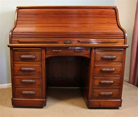 bureau top office antique mahogany roll top desk office writing desk 245502