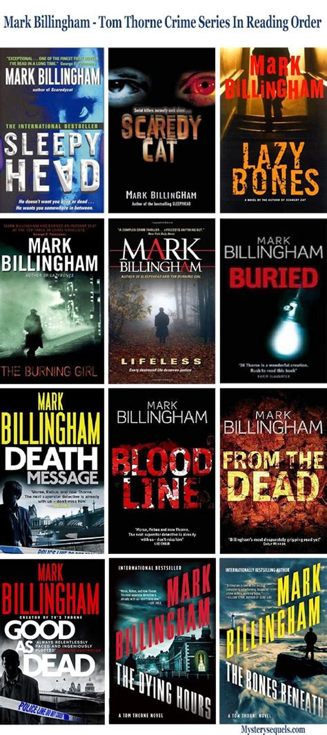 mystery series british books crime mark murder novels thorne tom detective order billingham mysterysequels popular james season author movies library