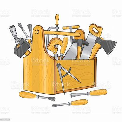 Tools Carpentry Box Tool Hand Vector Illustration