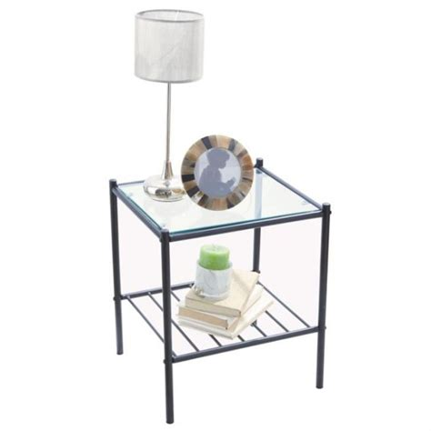 le corbusier canape table de chevet verre metal