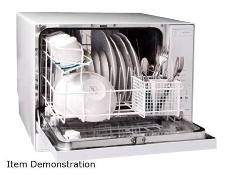 haier hdctw  place setting tabletop dishwasher white