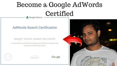 Adwords Certification by How To Become A Adwords Certified Professional