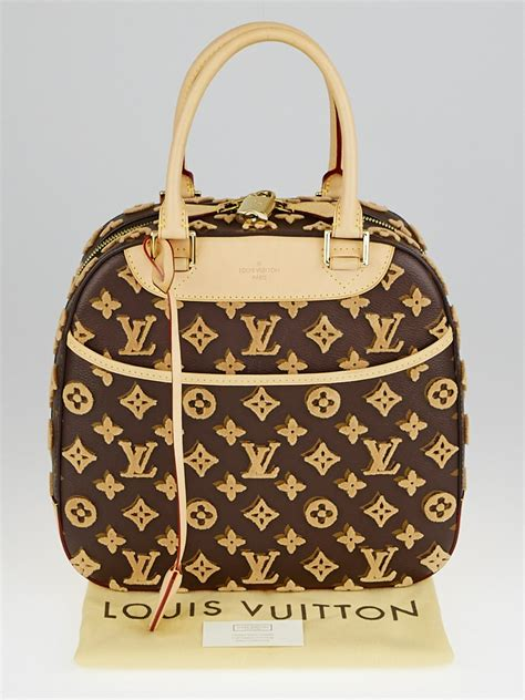 louis vuitton limited edition caramel monogram tuffetage
