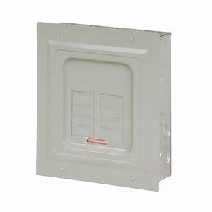 Eaton Br 125 Amp 6-space 12-circuit Indoor Main Lug Flush Cover-br612l125fp