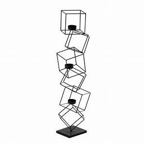 Kerzenhalter Schwarz Metall : kerzenhalter cubisme aus metall h 63 cm schwarz maisons du monde ~ Sanjose-hotels-ca.com Haus und Dekorationen