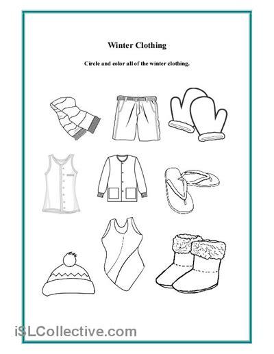 preschool worksheets winter clothes preschool winter clothing worksheet daycare clothing