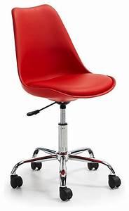 Chaise De Bureau Moderne : chaise roulettes design ocala couleur rouge moderne ~ Teatrodelosmanantiales.com Idées de Décoration
