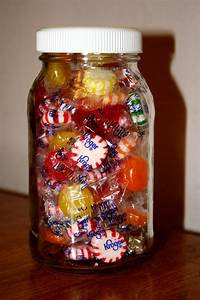 Glass, Jar, Full, Of, Hard, Candy, Picture
