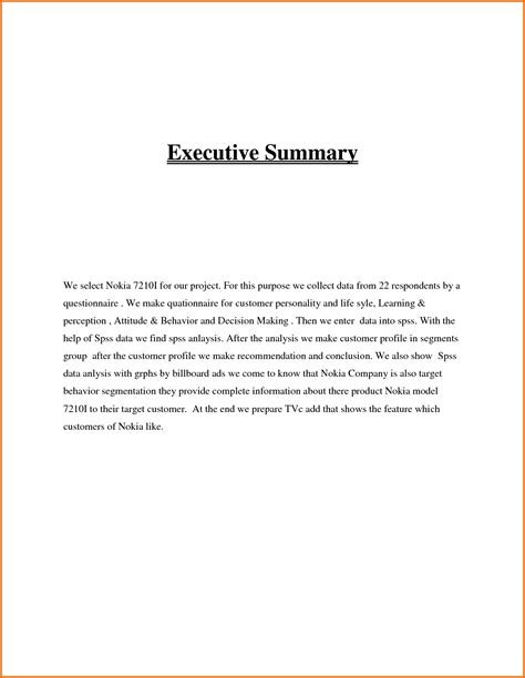 executive summary sample executive summary templates
