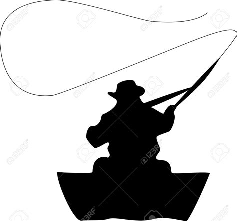 fisherman silhouette vector fishing clipart vector pencil and in color fishing