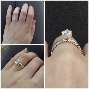 marquise rings With wedding band to fit marquise engagement ring