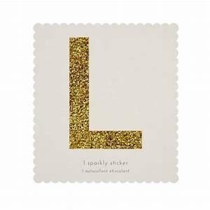 letter l gold glitter sticker gallinasmilza With gold letter l