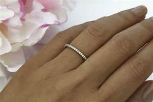 Dainty eternity band wedding band minimalist ring for Wedding ring minimalist