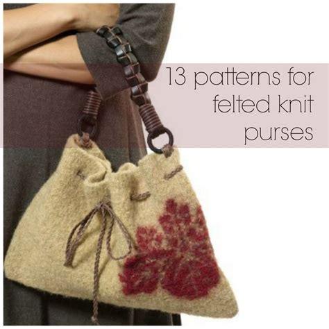 patterns  felted knit purses allfreeknittingcom