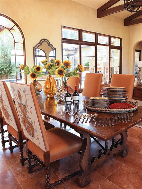rustic dining room  living room interior